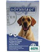 advantage flea treatment for dogs instructions